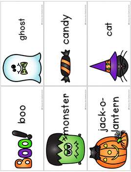 Halloween {Vocabulary Cards and Notebook}