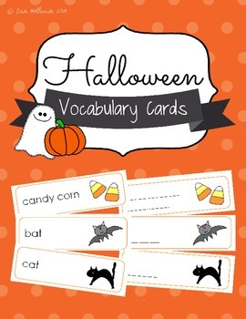 Halloween Vocabulary Cards and Spelling Practice