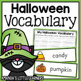 Halloween Vocabulary Cards and Worksheets