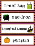 Halloween Vocabulary Cards for Word Wall