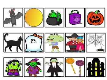 Halloween Vocabulary Cariboo Cards