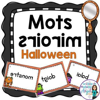 Halloween Vocabulary Center - Mots miroirs