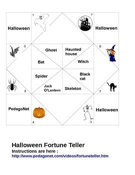 Halloween Vocabulary Fortune Teller