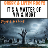 Halloween Vocabulary  Greek and Latin Roots Distance Learning