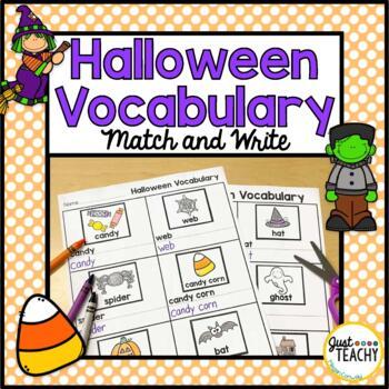 Halloween Vocabulary Match and Write