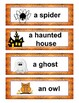 Halloween Vocabulary Memory Game and Word Wall in English