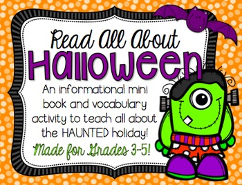 Halloween Vocabulary Mini Book for BIG KIDS