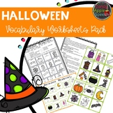 Halloween Vocabulary Worksheets Pack