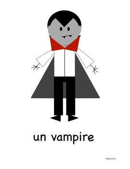 Halloween Vocabulary Posters French