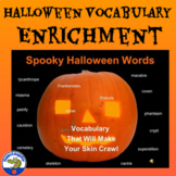 Halloween Vocabulary Activity and Writing Assignment PowerPoint