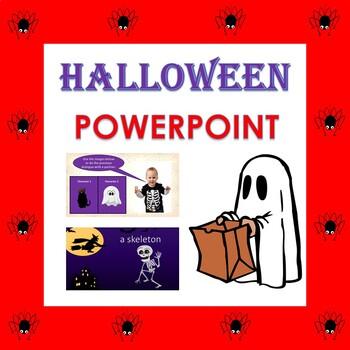 Halloween Vocabulary PowerPoint Presentation in English
