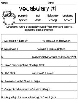 Halloween Vocabulary Practice