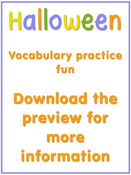 Halloween Vocabulary Practice Fun