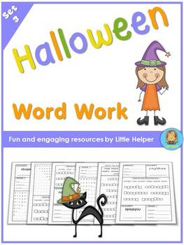 Halloween Vocabulary Practice  word work fun