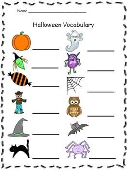 Halloween Vocabulary Puzzles