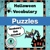 Halloween Vocabulary Puzzles and Quiz Pack