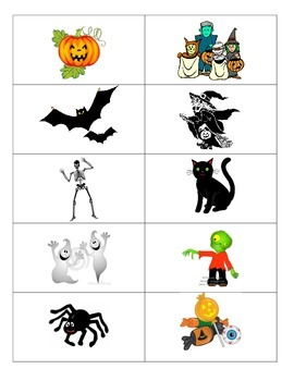 Halloween Vocabulary (Spanish and English)