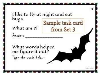 Halloween Vocabulary Task Cards for ELLs and Mainstream Students {Paperless}