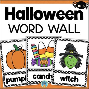 Halloween Word Wall Vocabulary Cards
