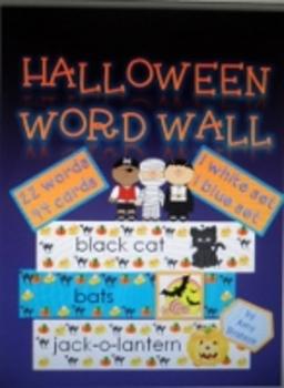 Halloween Vocabulary Word Wall Bulletin Board Cards