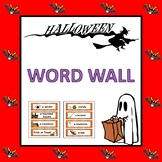 Halloween Vocabulary Word Wall (Pre-K to 1st)