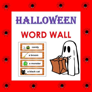 Halloween Vocabulary Word Wall in English
