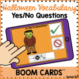 Halloween Vocabulary  BOOM CARDS Yes/No Questions | Speech