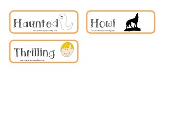 Halloween Vocabulary and Idiom FREEBIE
