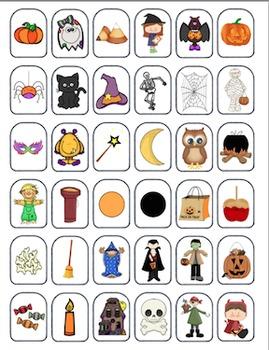 Halloween Vocabulary for Zingo