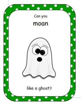 Halloween Vocalization Cards