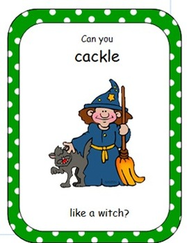 Halloween Vocalization Cards