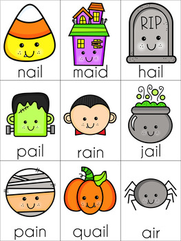 Halloween Vowel Digraph Cards