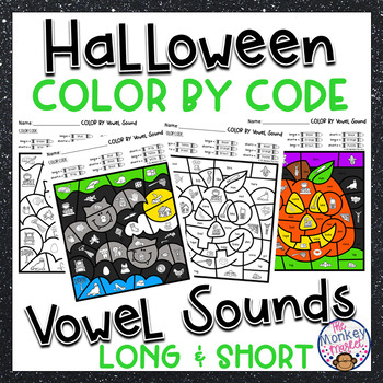 Halloween Vowel Sounds Color By Code