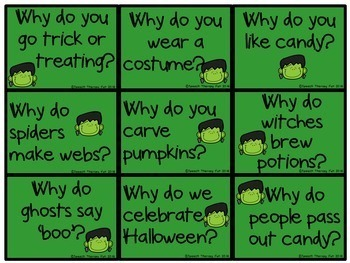 Halloween WH Question Game