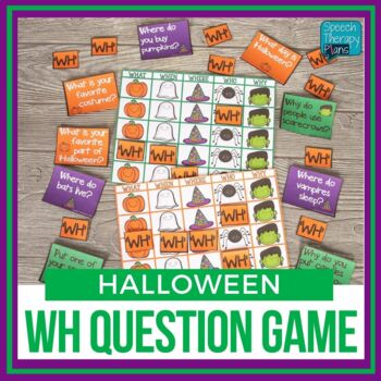 Halloween WH Question Game Freebie