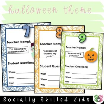 """""""Wh"""" Question Prompts HALLOWEEN THEMED {20 Differentiated Prompts}"""