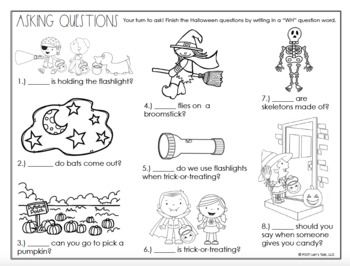 Halloween WH Questions