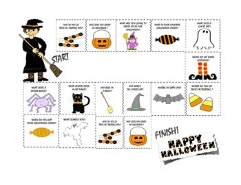 Halloween WH Questions! Flashcards & Game