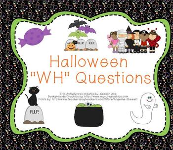 """Halloween: """"WH"""" questions"""