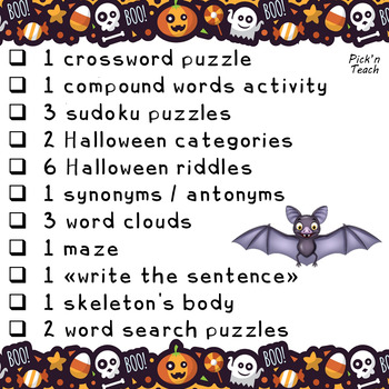 Halloween WORD GAMES - Print and go