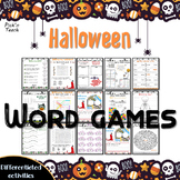 Halloween WORD GAMES - Print and go - Play and learn !