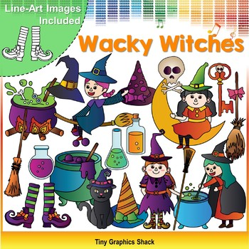 Halloween Wacky Witches Clip Art