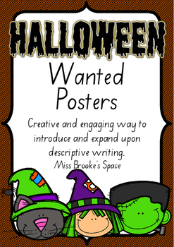 Halloween Wanted Posters