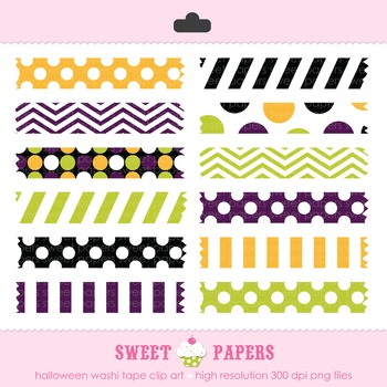 Halloween Washi Tape Digital Clip Art Set - by Sweet Papers