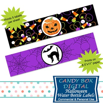Halloween Water Bottle Labels or Napkin Wraps For Your DIY Party
