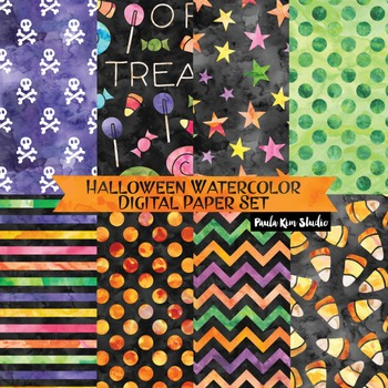 Halloween Watercolor Digital Paper