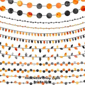 Halloween Watercolor String Lights