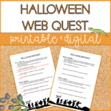 Halloween | Web Quest | Distance Learning | Google Slides