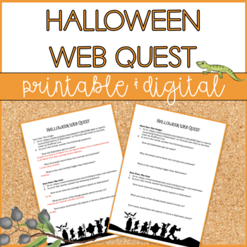 Halloween Web Quest