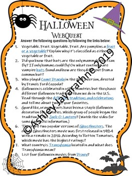 Halloween WebQuest